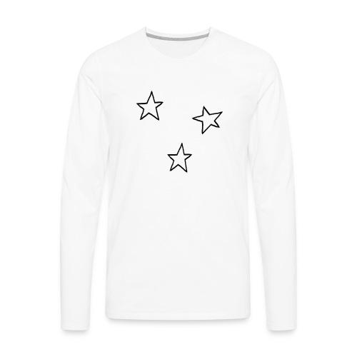 Three Stars - Men's Premium Long Sleeve T-Shirt