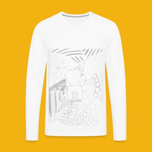 Messy Zentangle Boxing glove (TCOU) - Men's Premium Long Sleeve T-Shirt
