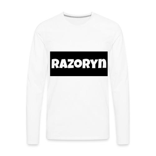 Razoryn Plain Shirt - Men's Premium Long Sleeve T-Shirt