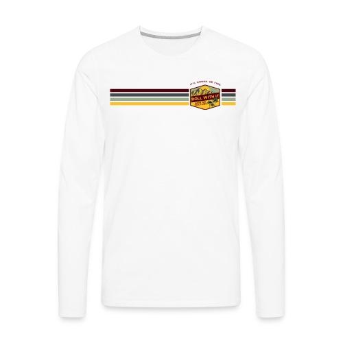 Badge and Stripes - Men's Premium Long Sleeve T-Shirt