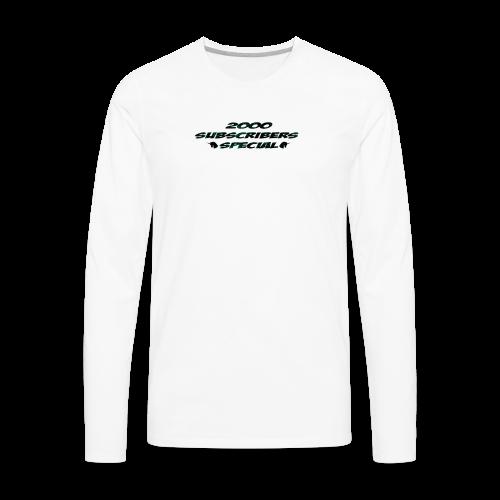 2k Subscribers Merch - Men's Premium Long Sleeve T-Shirt