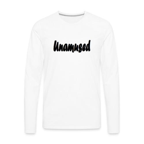 Unamused retro white logo - Men's Premium Long Sleeve T-Shirt