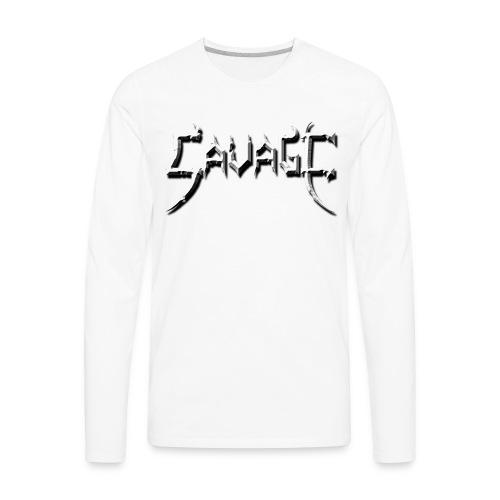 savage logo - Men's Premium Long Sleeve T-Shirt