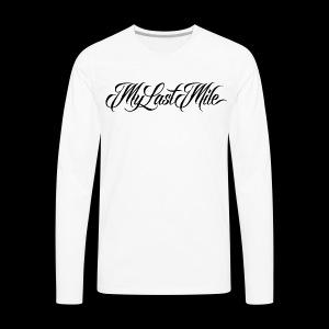 My Last Mile Merch - Black - Men's Premium Long Sleeve T-Shirt