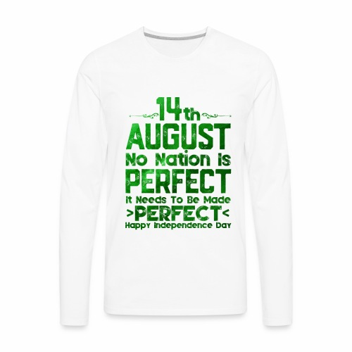 14th August Independence Day - Men's Premium Long Sleeve T-Shirt