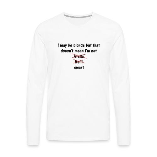 Blonde - Men's Premium Long Sleeve T-Shirt