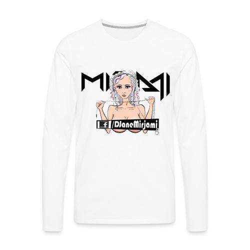 DJ Mirjami Cartoon Style #01 - Men's Premium Long Sleeve T-Shirt