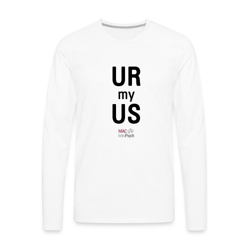 URmyUS veritcal - Men's Premium Long Sleeve T-Shirt