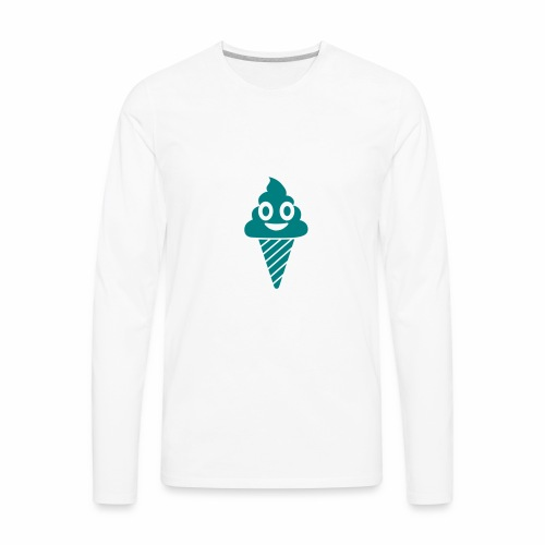 Smiling Ice Cream - Men's Premium Long Sleeve T-Shirt