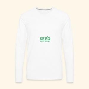SEED Community Logotype - Green - Men's Premium Long Sleeve T-Shirt