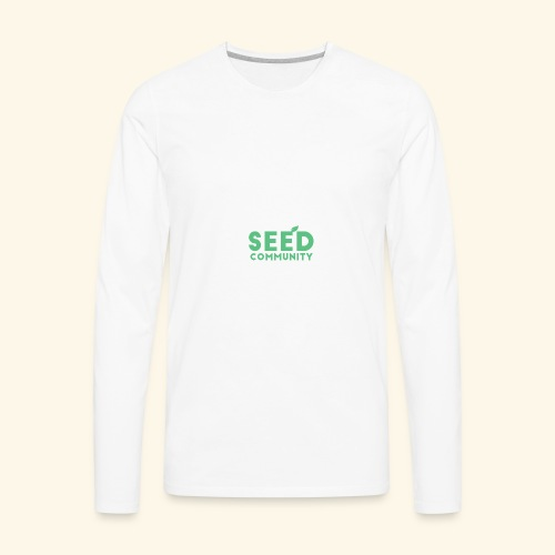 SEED Community Logotype - Green - Men's Premium Long Sleeve T-Shirt