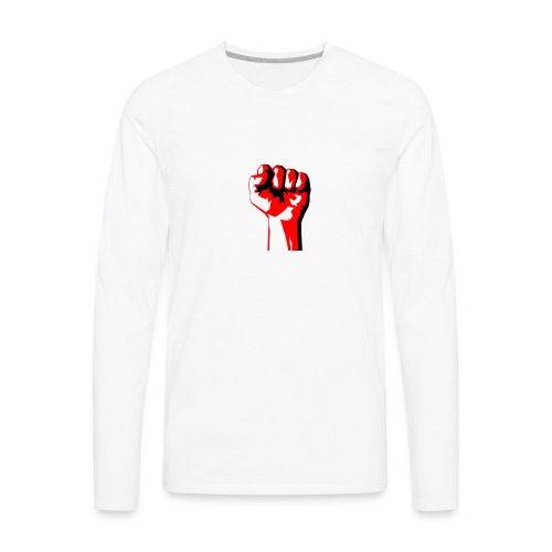 REEVVOLT fist MERCH - Men's Premium Long Sleeve T-Shirt