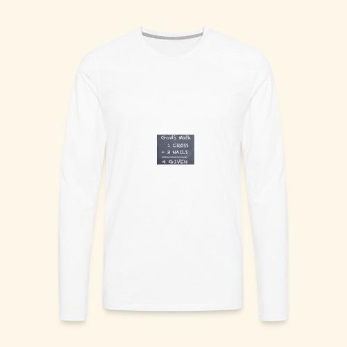 1 cross - Men's Premium Long Sleeve T-Shirt