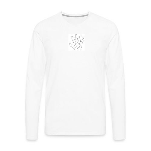 Hand and Star in Black and White - Men's Premium Long Sleeve T-Shirt