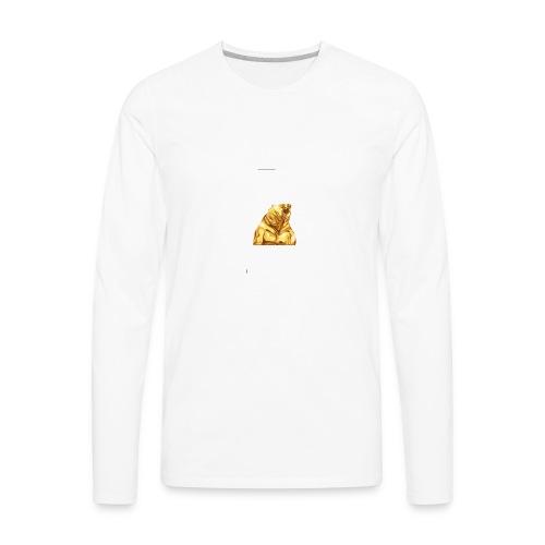 Gold bear - Men's Premium Long Sleeve T-Shirt