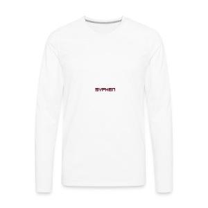 syphen text - Men's Premium Long Sleeve T-Shirt