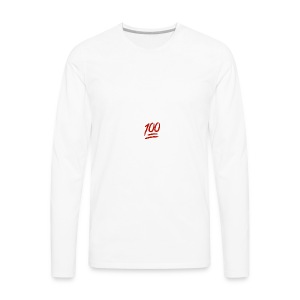 100 flawless - Men's Premium Long Sleeve T-Shirt