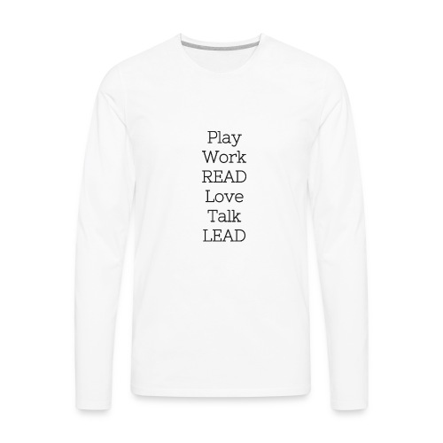 Play_Work_Read - Men's Premium Long Sleeve T-Shirt