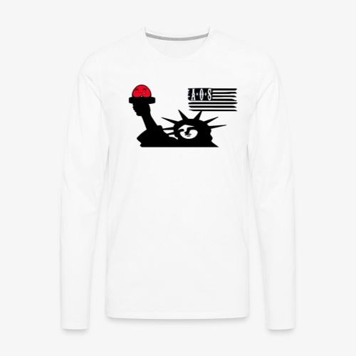A.O We Stand - Men's Premium Long Sleeve T-Shirt