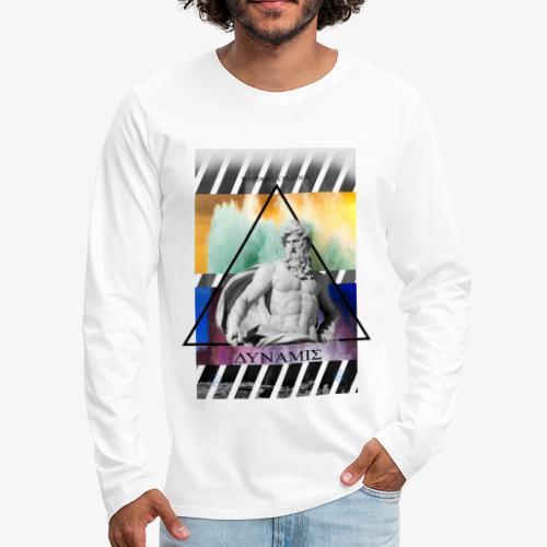 POSEIDON CREATION white - Men's Premium Long Sleeve T-Shirt