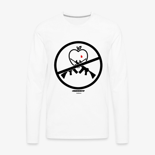March In Step Black Floating Logo - Men's Premium Long Sleeve T-Shirt