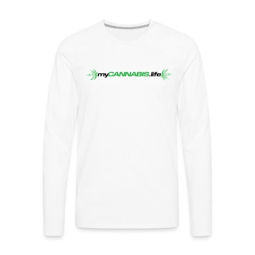 myCANNABIS.life Black Text - Men's Premium Long Sleeve T-Shirt