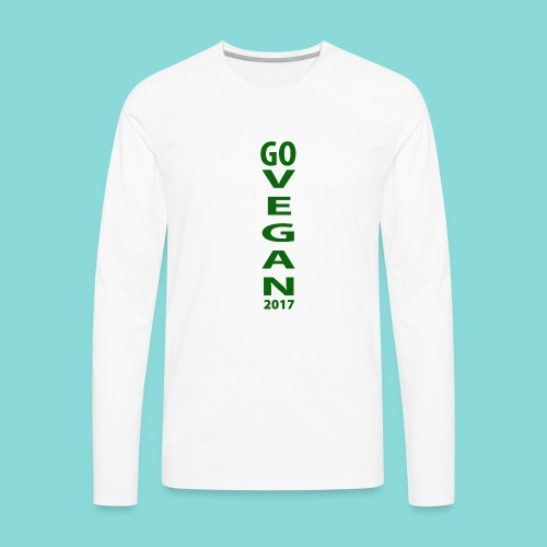Go_Vegan_2017 - Men's Premium Long Sleeve T-Shirt