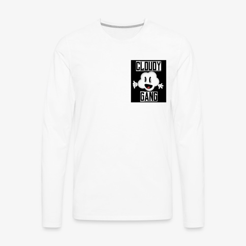 Cloudy Gang (Mens pocket edition) - Men's Premium Long Sleeve T-Shirt