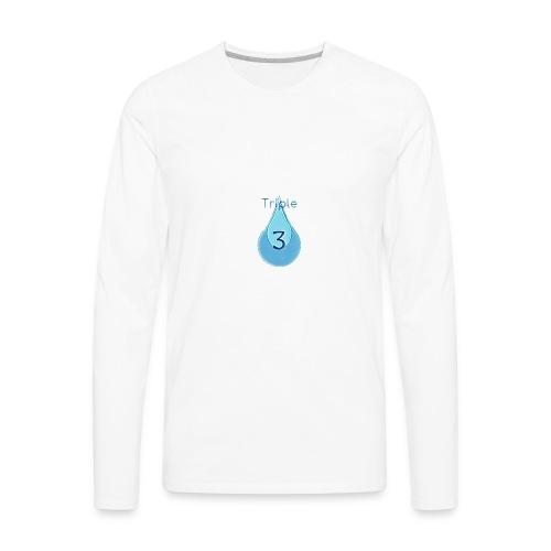 Triple - Men's Premium Long Sleeve T-Shirt