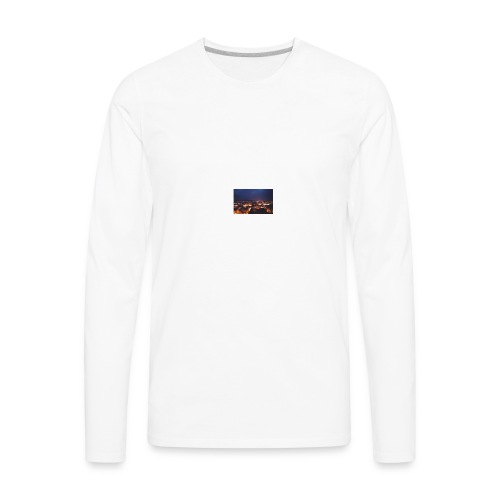 300px-Downtown_Binghamton_at_Night - Men's Premium Long Sleeve T-Shirt