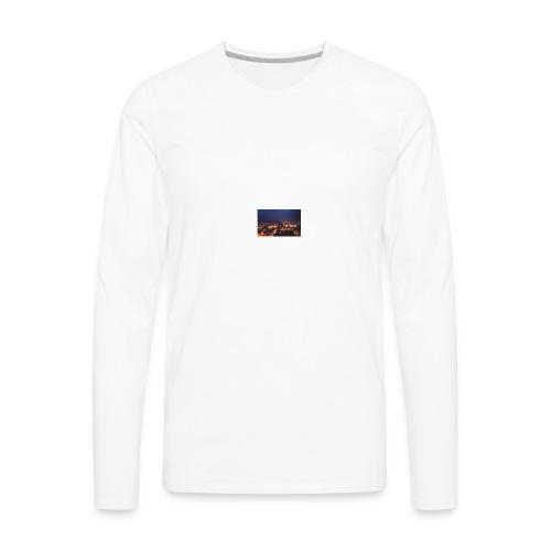 300px-Downtown_Binghamton_at_Night - Men's Premium Long Sleeve T-Shirt