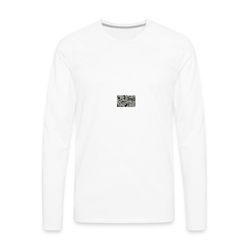 Black floral pocket - Men's Premium Long Sleeve T-Shirt