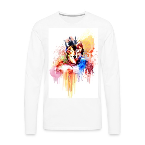 Sir Wolf - Men's Premium Long Sleeve T-Shirt