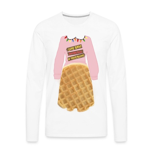 stranger things eleven themed graphic - Men's Premium Long Sleeve T-Shirt
