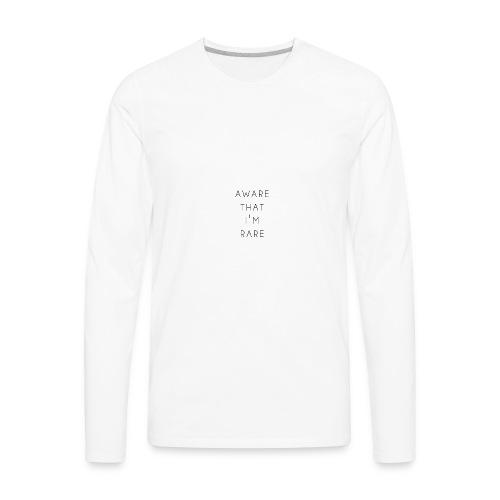 Aware That I'm Rare - Men's Premium Long Sleeve T-Shirt