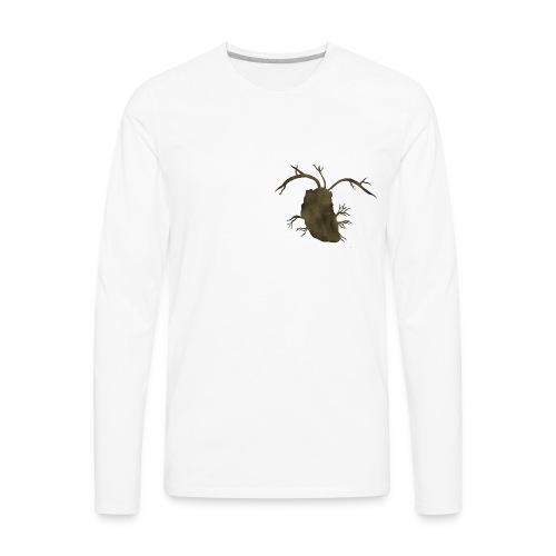 Real Heart Silhouette - Men's Premium Long Sleeve T-Shirt