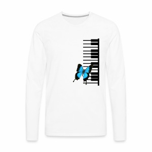 Black Piano and butterfly - Men's Premium Long Sleeve T-Shirt