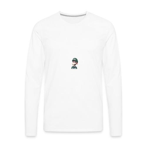 Luigi from (Mario)The Music Box By Team Ari - Men's Premium Long Sleeve T-Shirt