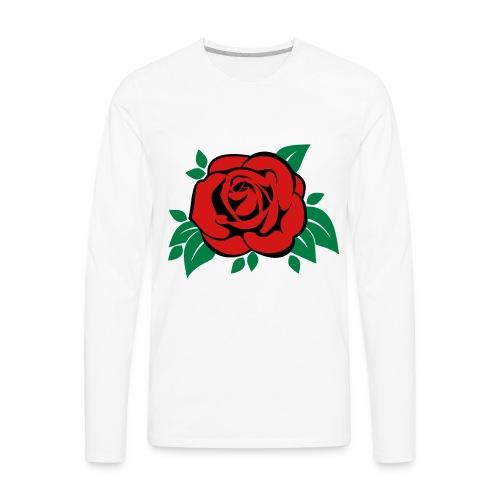 rose_vector - Men's Premium Long Sleeve T-Shirt