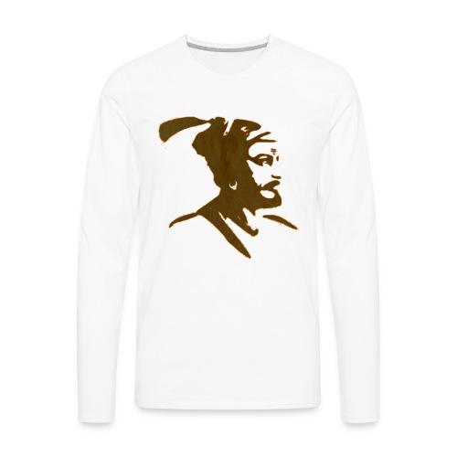 King Shivaji ART by HD Design - Men's Premium Long Sleeve T-Shirt
