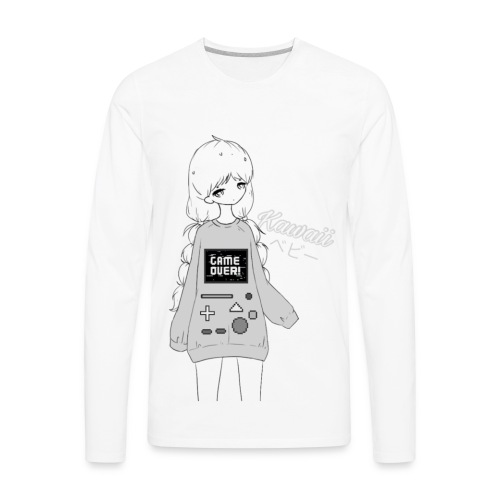 Game Over Kawaii - Men's Premium Long Sleeve T-Shirt