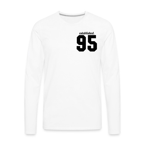 95 established T-Shirt (White) - Men's Premium Long Sleeve T-Shirt