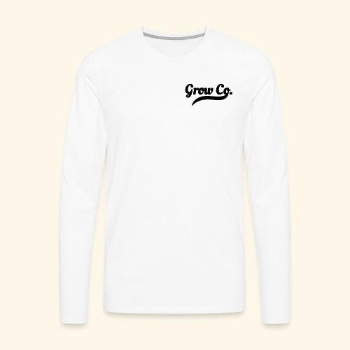 growco text all black - Men's Premium Long Sleeve T-Shirt