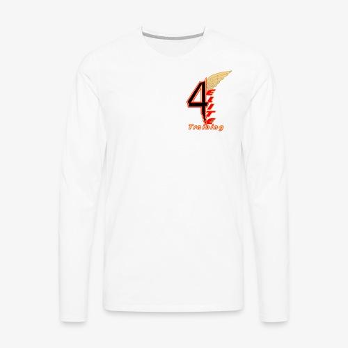 4ELITE Offset Black - Men's Premium Long Sleeve T-Shirt