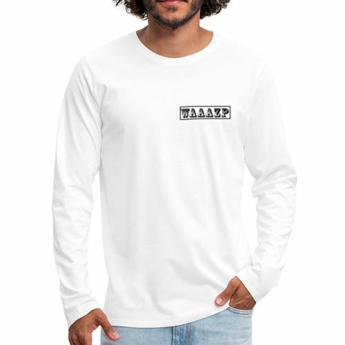 waaazp brand logo - Men's Premium Long Sleeve T-Shirt