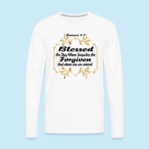 Blessed and Forgiven - Men's Premium Long Sleeve T-Shirt