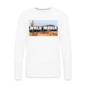 Wrld Media Desert Canyon - Men's Premium Long Sleeve T-Shirt