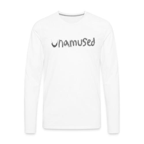 unamused crayon logo - Men's Premium Long Sleeve T-Shirt