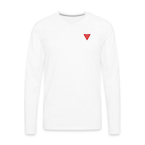 Viibe Epilogue Logo in Red - Men's Premium Long Sleeve T-Shirt
