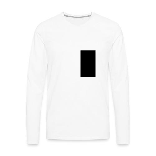 Black Rectangle - Men's Premium Long Sleeve T-Shirt